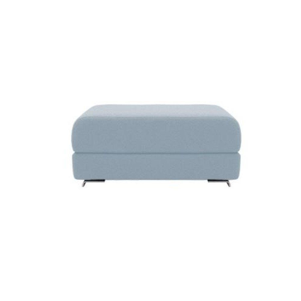 Pouf convertible LOUNGE en tissu bleu ciel  SOFTLINE