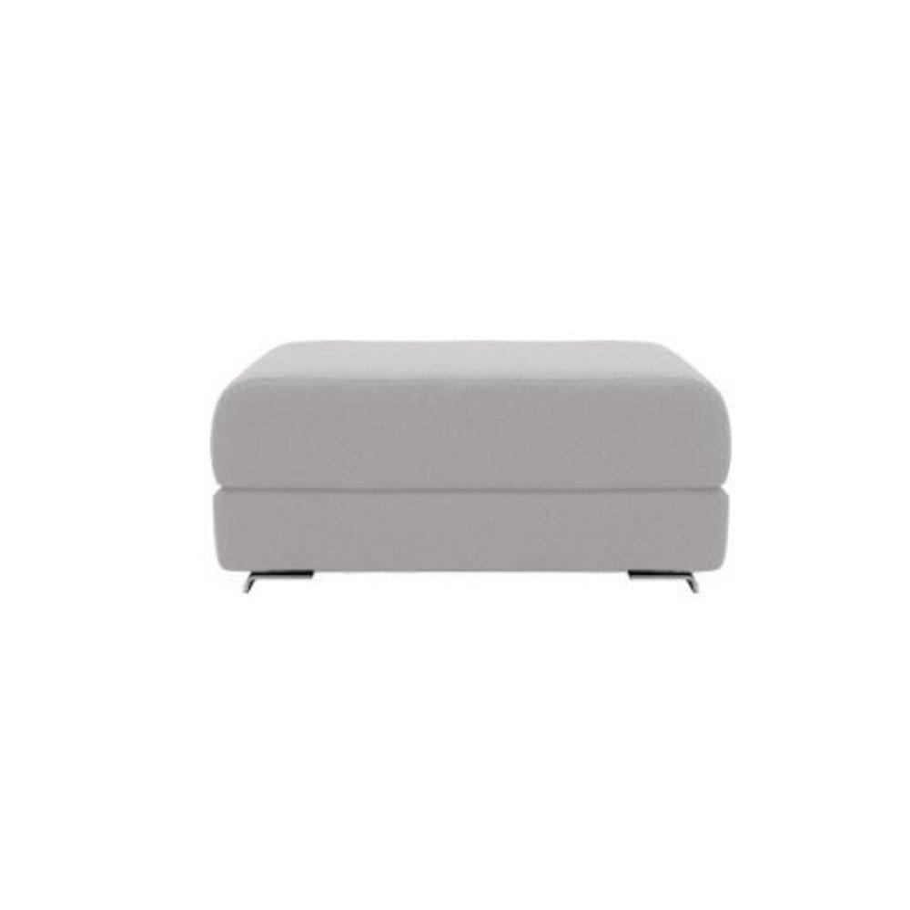 Pouf convertible LOUNGE en tissu gris clair. Pouf convertible LOUNGE en tissu gris clair