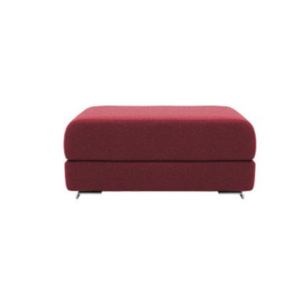 Pouf convertible LOUNGE en tissu rouge. Pouf convertible LOUNGE en tissu rouge