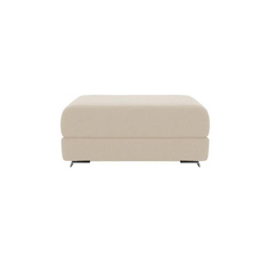 Pouf convertible LOUNGE en tissu taupe clair  SOFTLINE