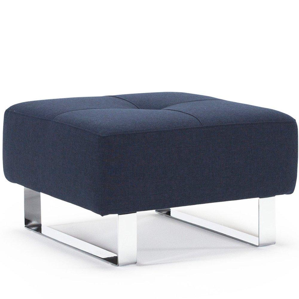 Fauteuils Et Poufs Canapes Et Convertibles Innovation Living Pouf Design Supremax Deluxe 65 65 Cm Tissu Mixed Dance Blue Inside75