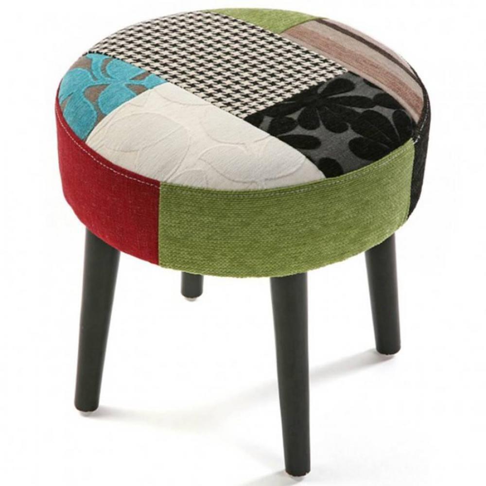 fauteuils et poufs canap s et convertibles pouf rond janeiro tissu patchwork inside75. Black Bedroom Furniture Sets. Home Design Ideas