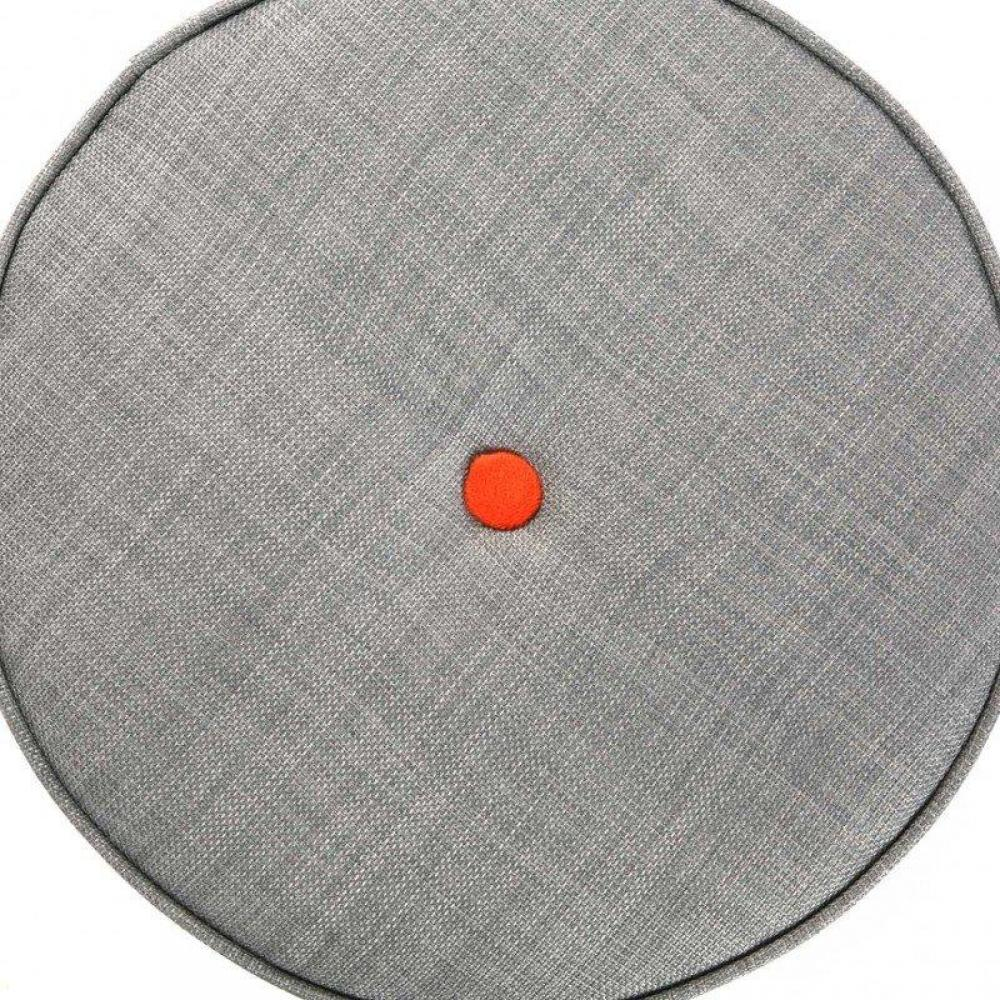 Pouf Repose Pieds Design Au Meilleur Prix Pouf Rond Buttons Tissu Gris Capiton Colore Inside75