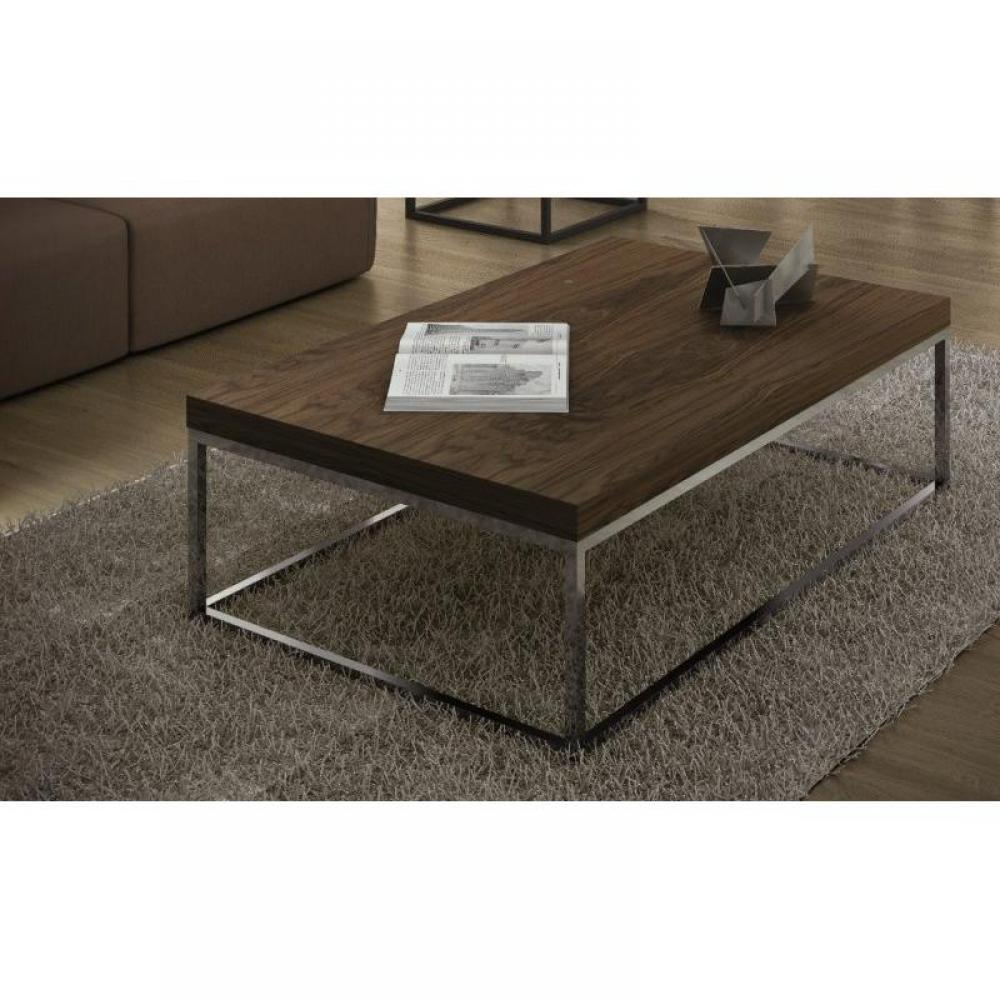 Table basse pied metal hoze home - Table basse bois pied metal ...