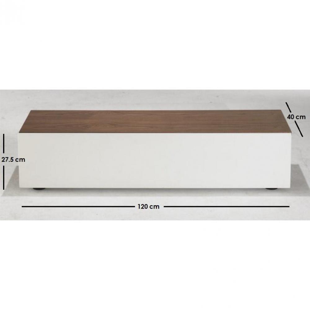 Meubles tv meubles et rangements quadran meuble tv for Meuble tv blanc plateau bois