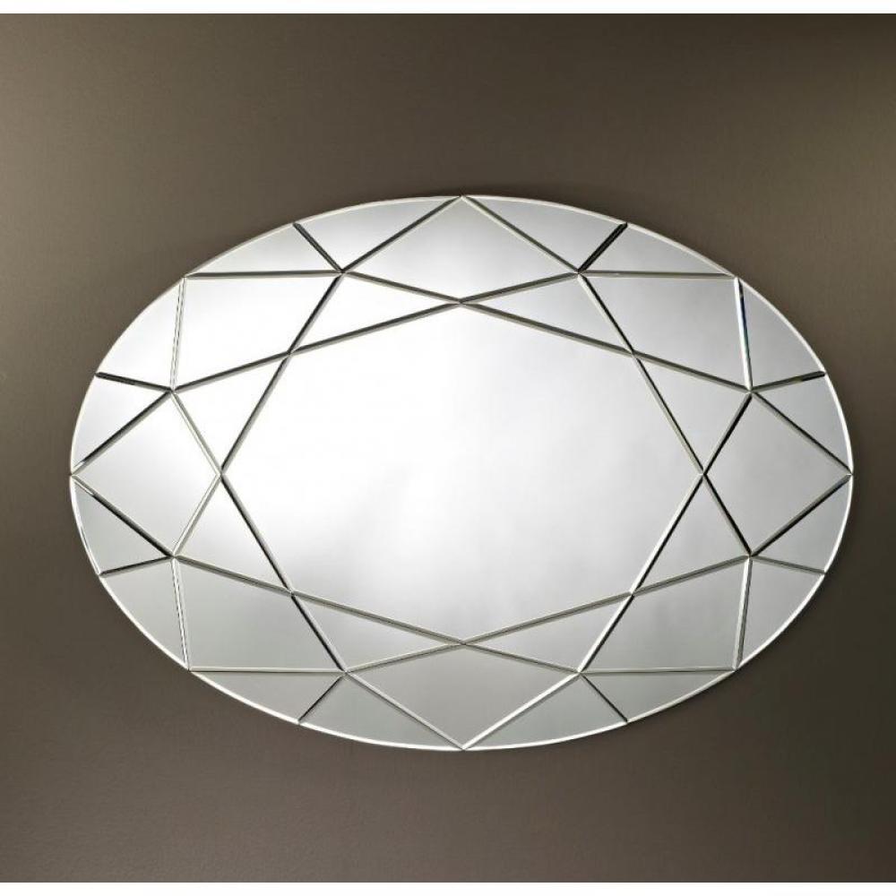 Miroirs meubles et rangements quasar miroir mural design oval en verre bise - Miroir design belgique ...