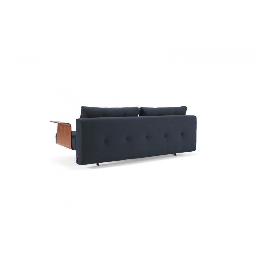 INNOVATION LIVING  Canape design RECAST PLUS Nist Blue convertible lit 200*140cm accoudoirs noyer