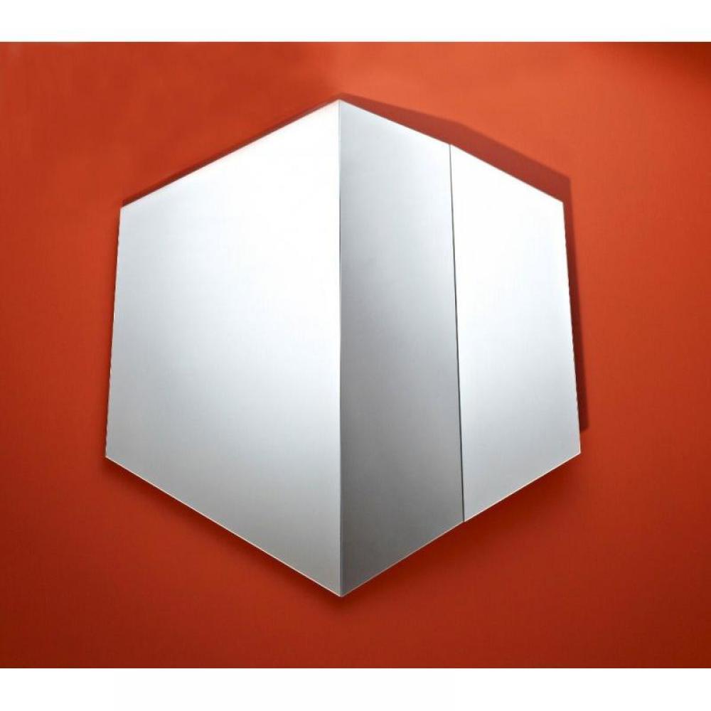 miroirs meubles et rangements reflet miroir mural design hexagonal en verre biseaut inside75. Black Bedroom Furniture Sets. Home Design Ideas