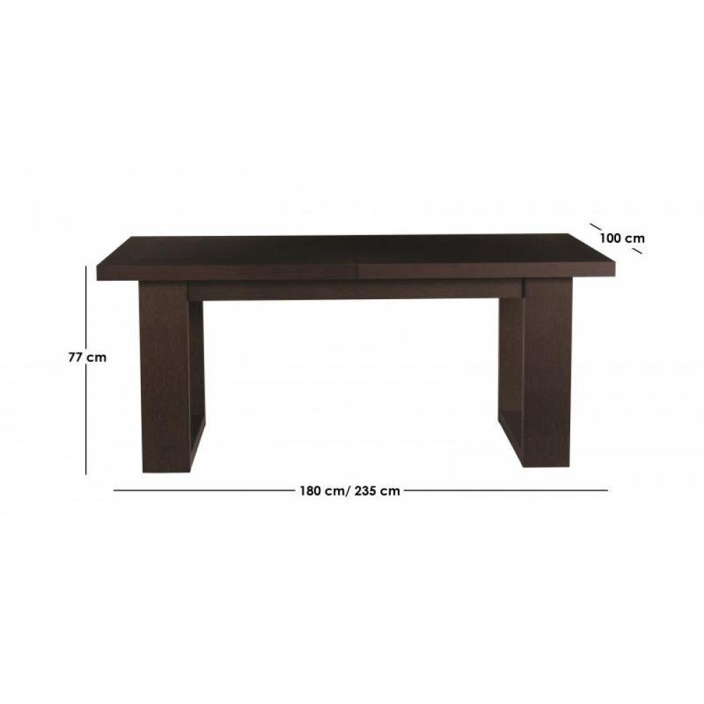 Tables repas meubles et rangements temahome rio table de repas extensible w - Table extensible wenge ...