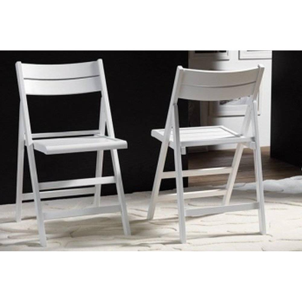Lot de 2 chaises pliante ROBERT blanche