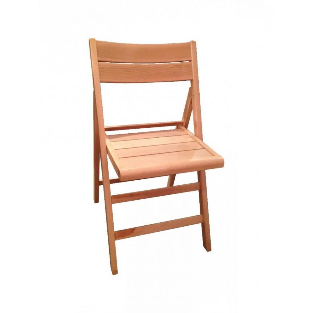 Lot de 2 chaises pliante ROBERT hêtre naturel