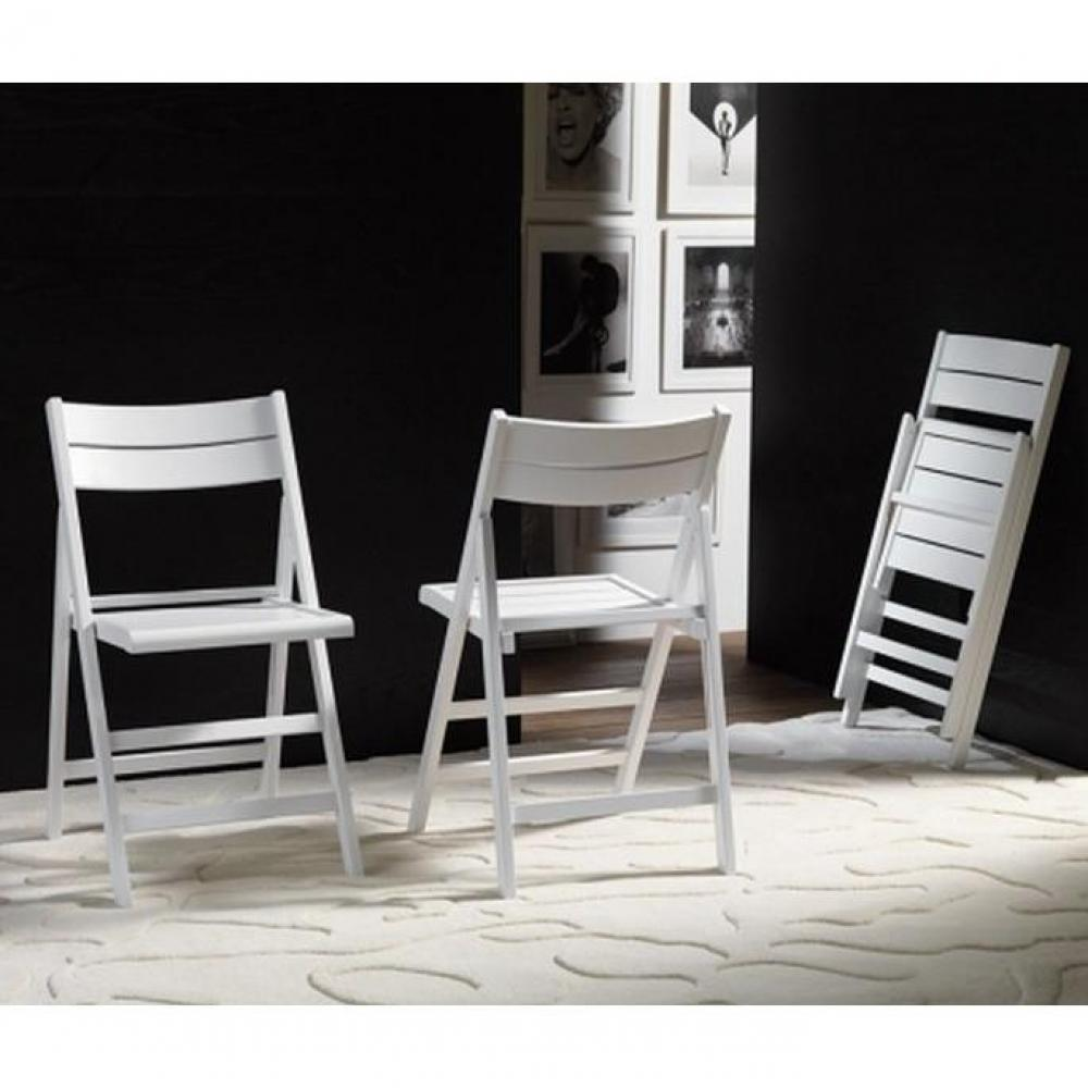 Lot de 2 chaises pliantes ROBERT noyer