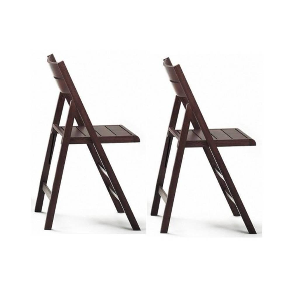 Lot de 2 chaises pliante ROBERT wenge