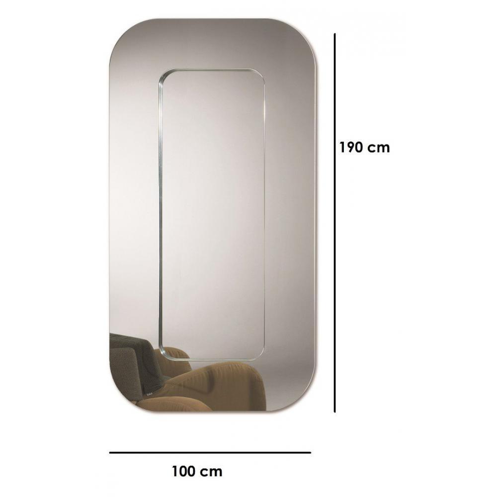 Miroirs meubles et rangements roll miroir mural design for Miroir design belgique