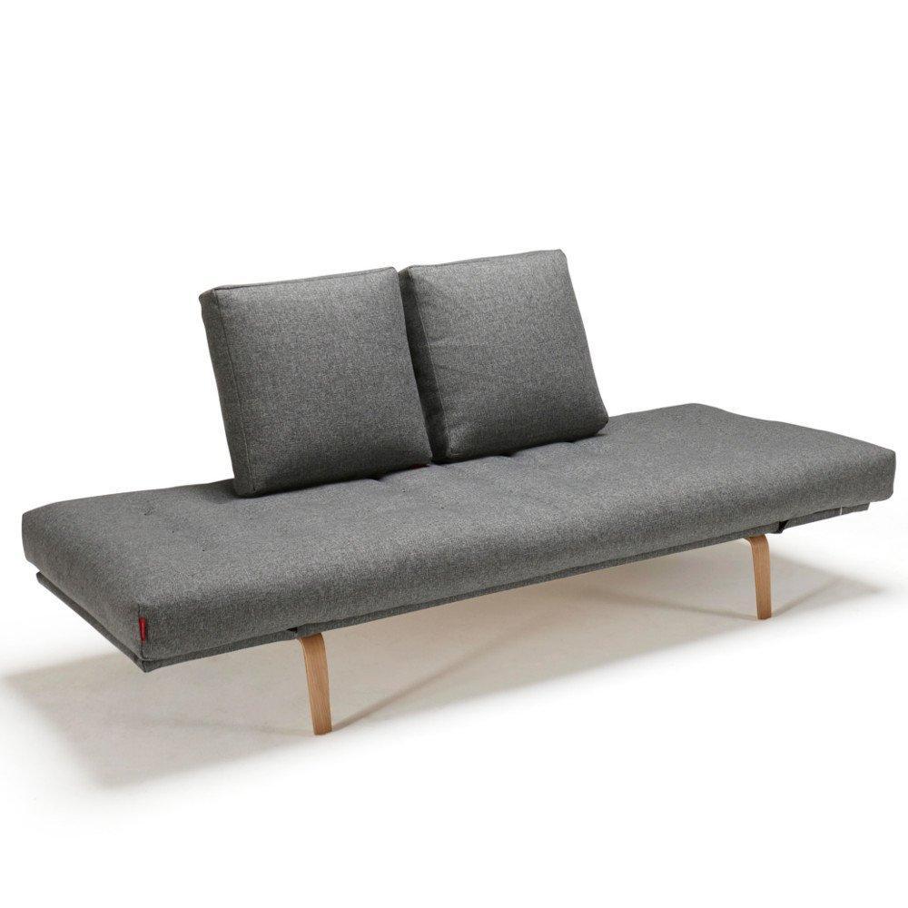 INNOVATION LIVING  Canapé design ROLLO BOW convertible piétement chêne clair