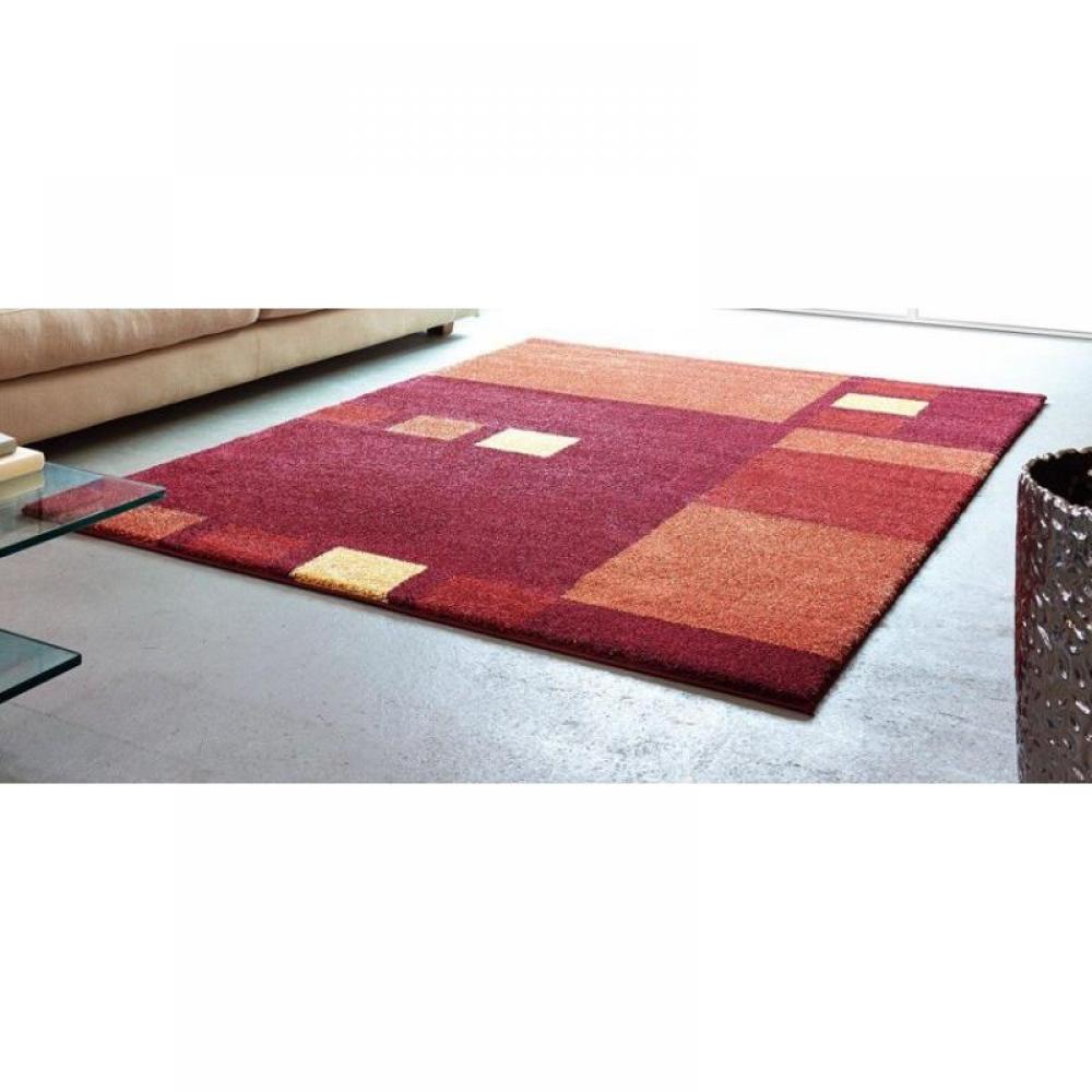 tapis de sol meubles et rangements samoa design tapis patchwork bordeaux et orange 120x180. Black Bedroom Furniture Sets. Home Design Ideas