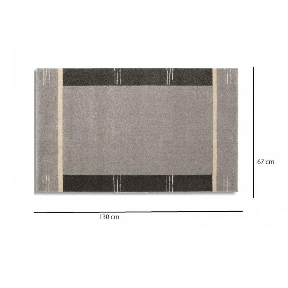 tapis de sol meubles et rangements samoa design tapis patchwork gris 67x130 cm inside75. Black Bedroom Furniture Sets. Home Design Ideas