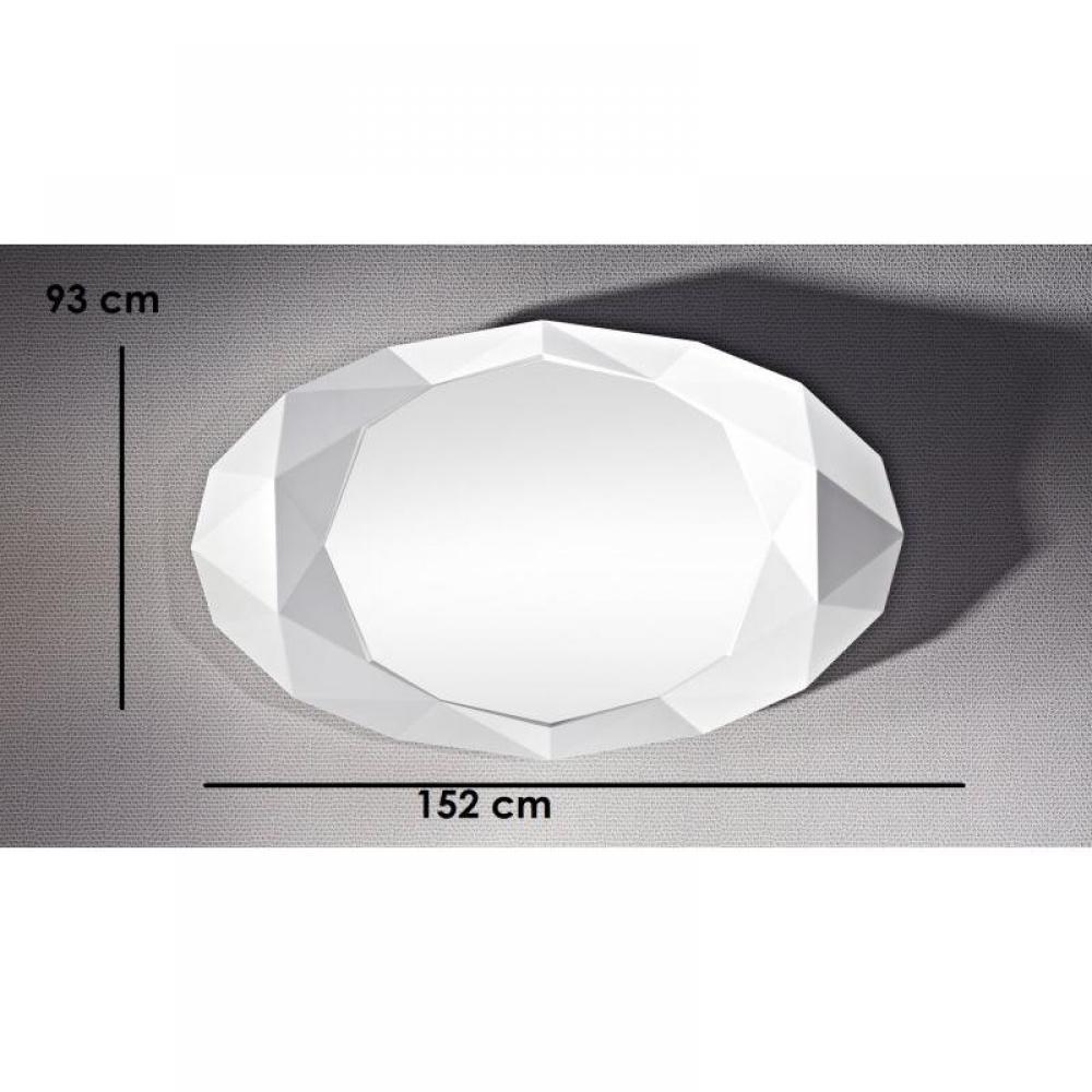 Miroirs meubles et rangements saphir miroir mural design for Miroir blanc design