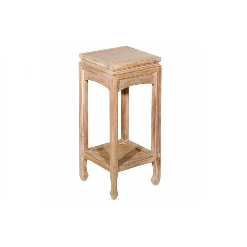 Sellettes gueridons meubles et rangements sellette ines for Meuble en orme massif blanchi