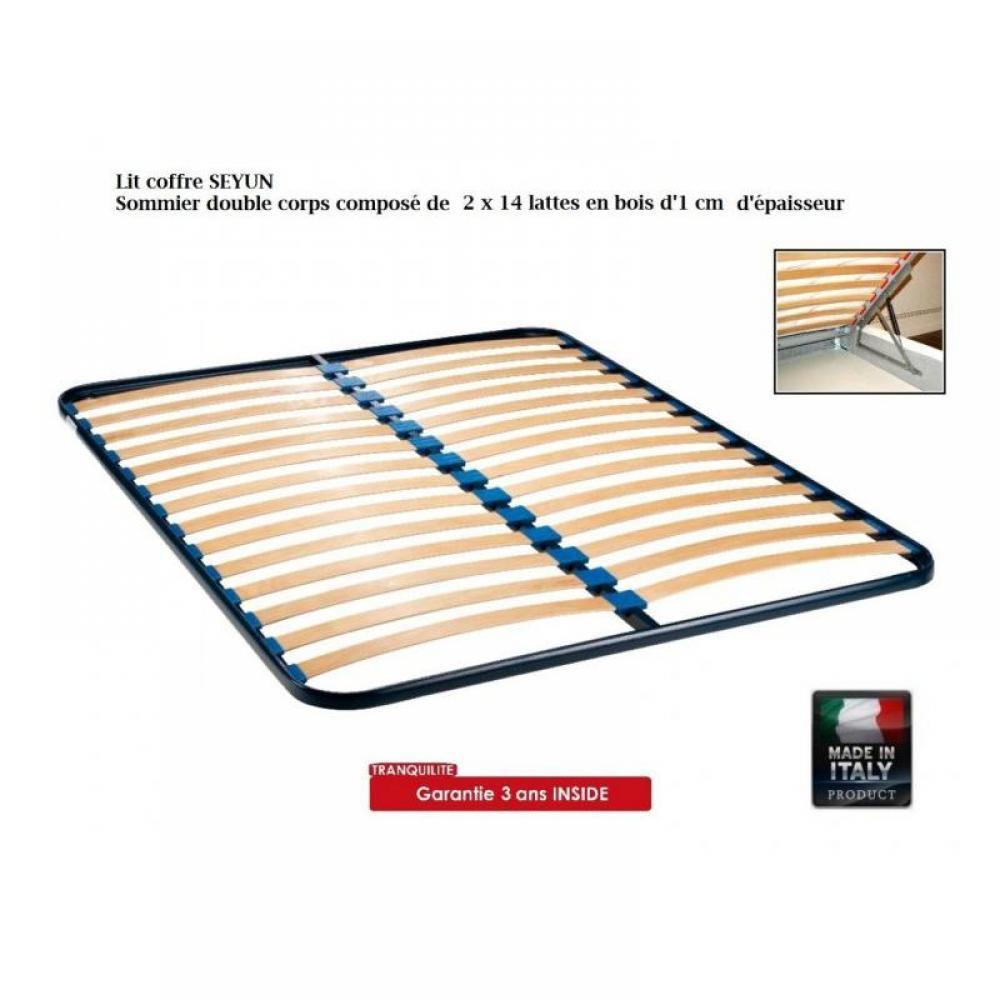 lits chambre literie lit coffre seyun haut de gamme avec t te de lit 140 190 cm inside75. Black Bedroom Furniture Sets. Home Design Ideas