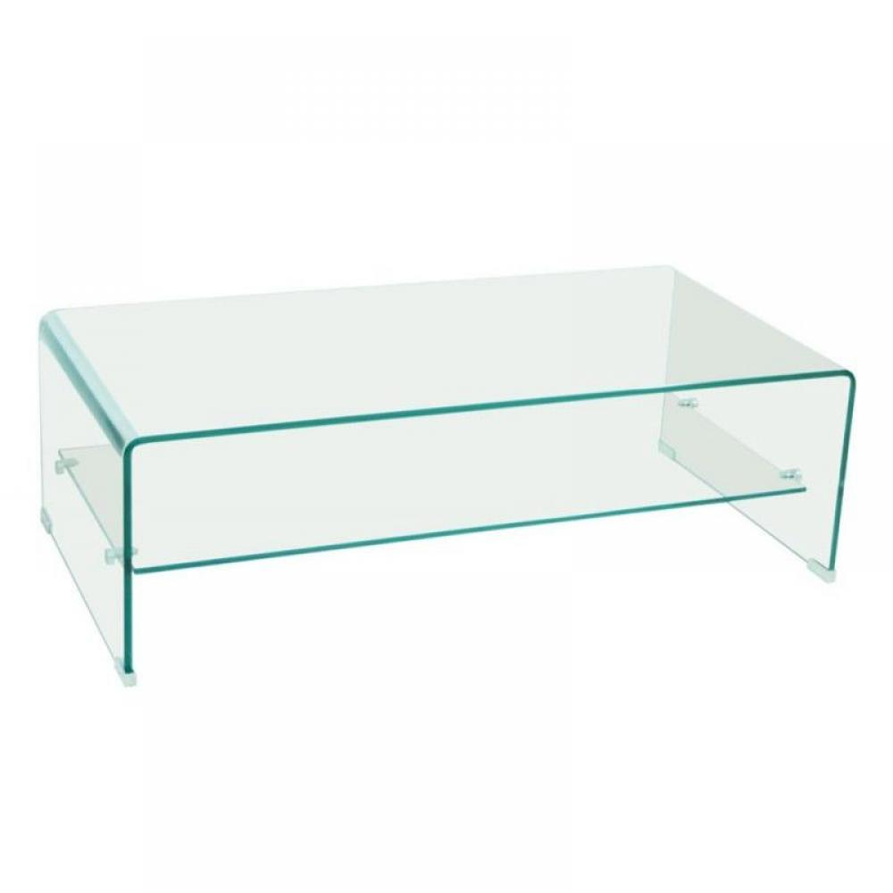 Table basse carr e ronde ou rectangulaire au meilleur for Table basse verre trempe