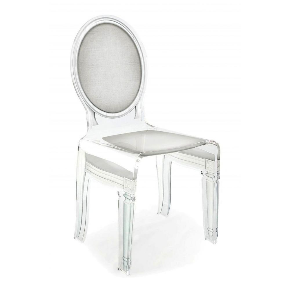 SIXTEEN Chaise ACRILA en plexi blanc