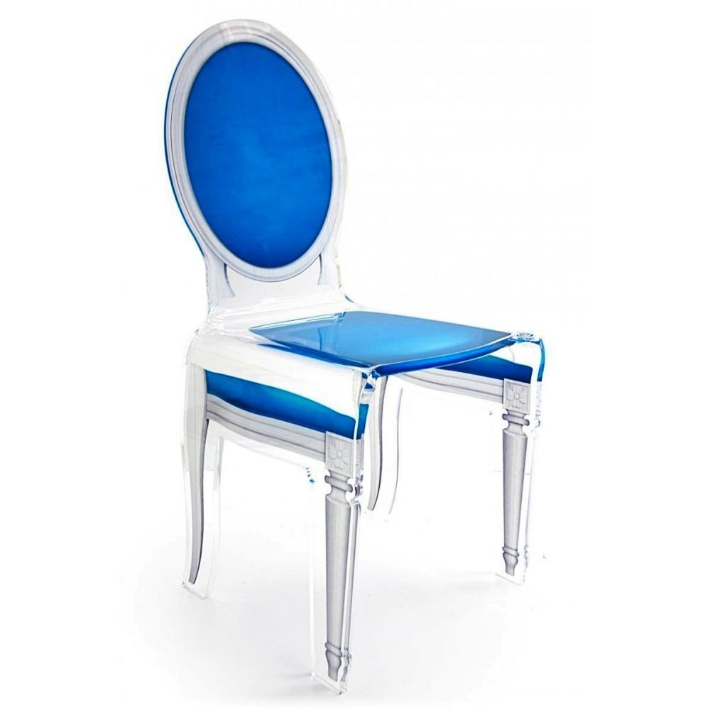Chaises meubles et rangements sixteen chaise acrila en for Chaise en plexi