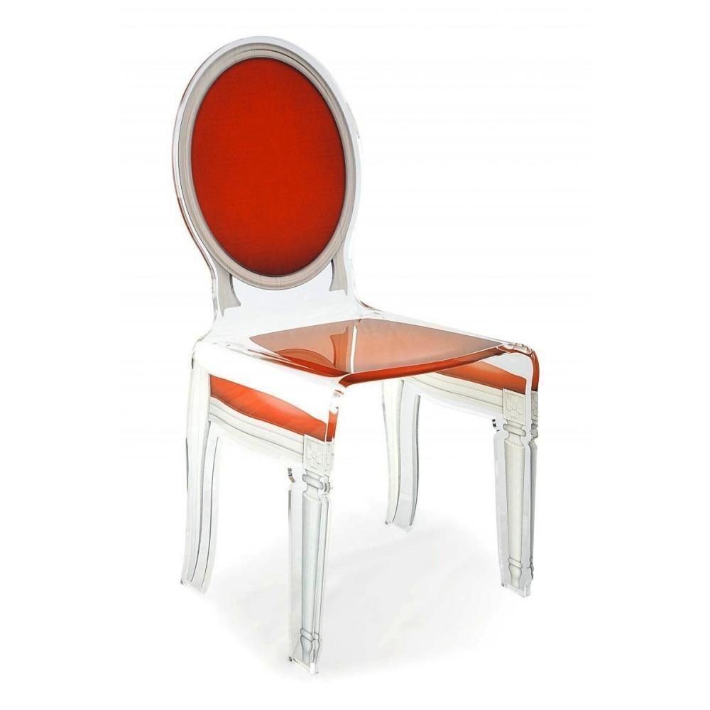chaise design ergonomique et stylis e au meilleur prix sixteen chaise acrila en plexi rouge. Black Bedroom Furniture Sets. Home Design Ideas