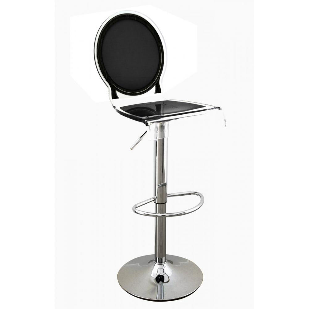 tabouret de bar design tendance retro au meilleur prix tabouret bar sixteen noir plexiglass. Black Bedroom Furniture Sets. Home Design Ideas