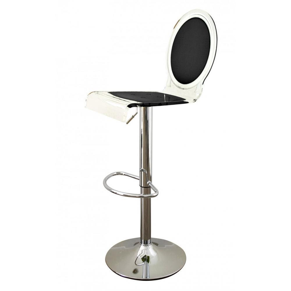 tabourets de bar meubles et rangements tabouret bar sixteen noir plexiglass acrila inside75. Black Bedroom Furniture Sets. Home Design Ideas