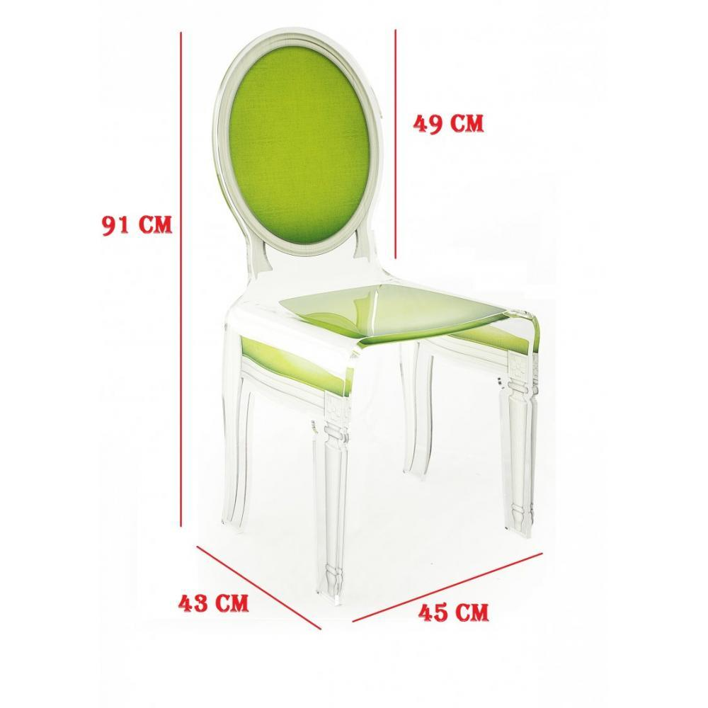 chaise design ergonomique et stylis e au meilleur prix sixteen chaise acrila en plexi vert. Black Bedroom Furniture Sets. Home Design Ideas