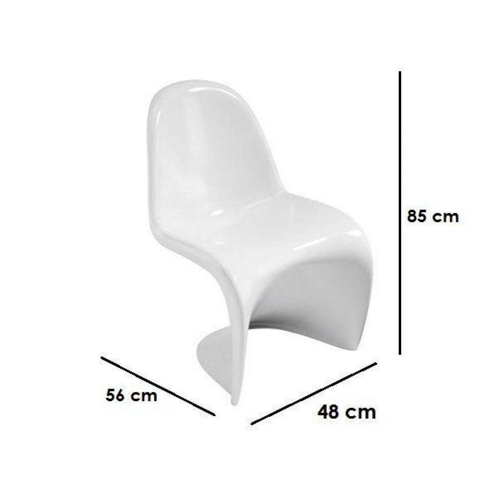 slash chaise blanche design empilables - Chaise Blanche Design