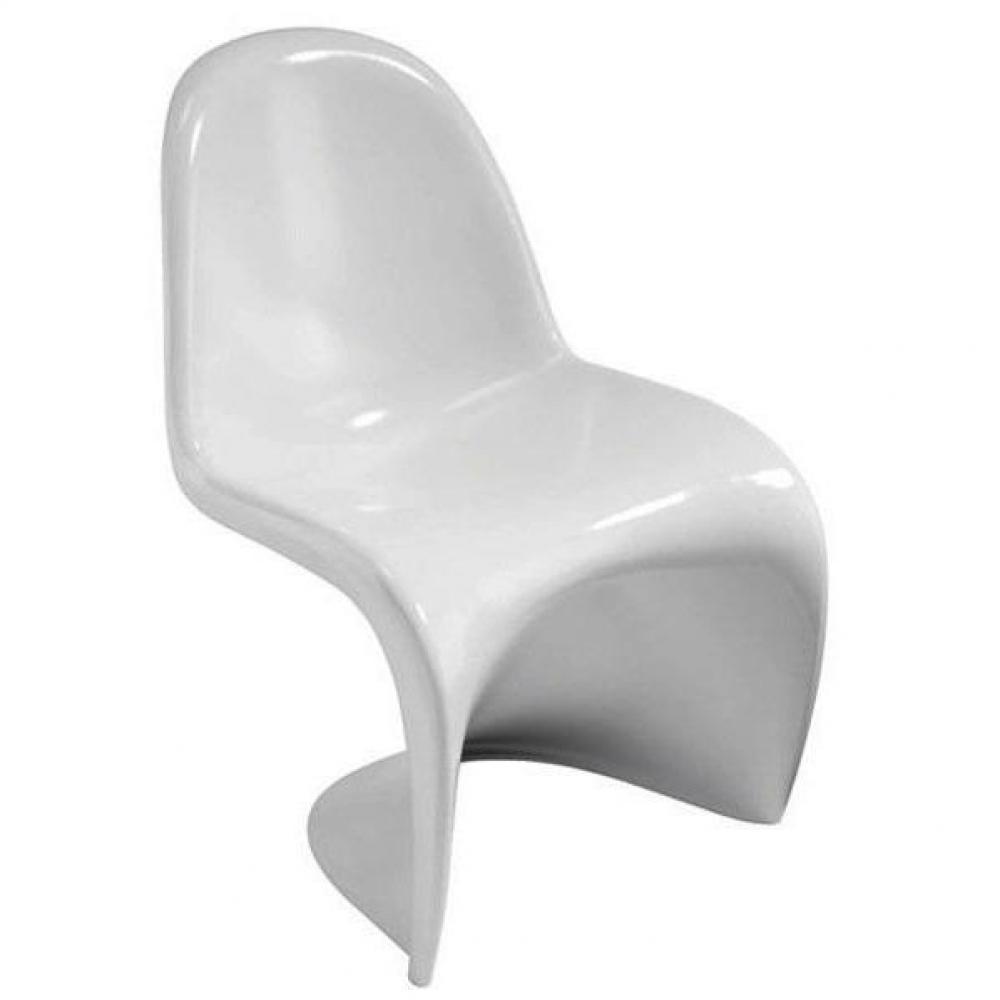 Chaises meubles et rangements chaise slash design style for Chaise blanche salon