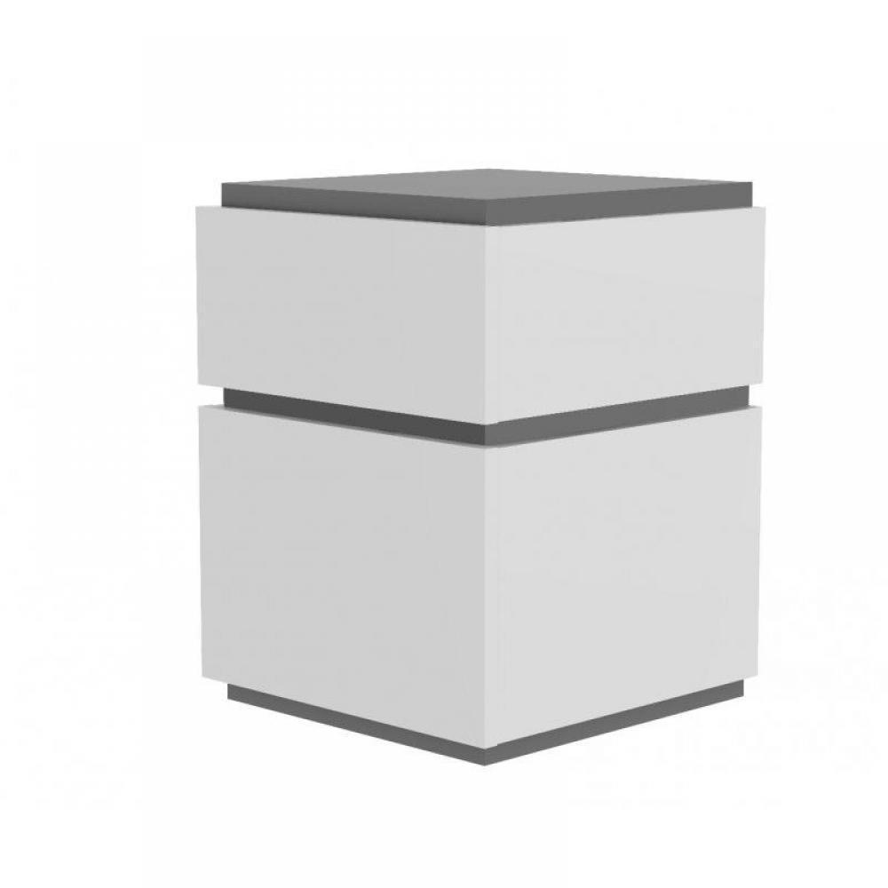 Chevets meubles et rangements slot chevet temahome gris for Chevet mural avec tiroir
