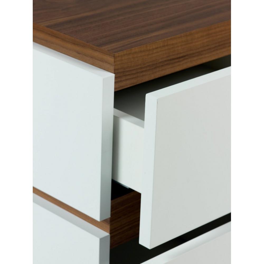 Chevets meubles et rangements slot chevet temahome noyer for Chevet mural avec tiroir