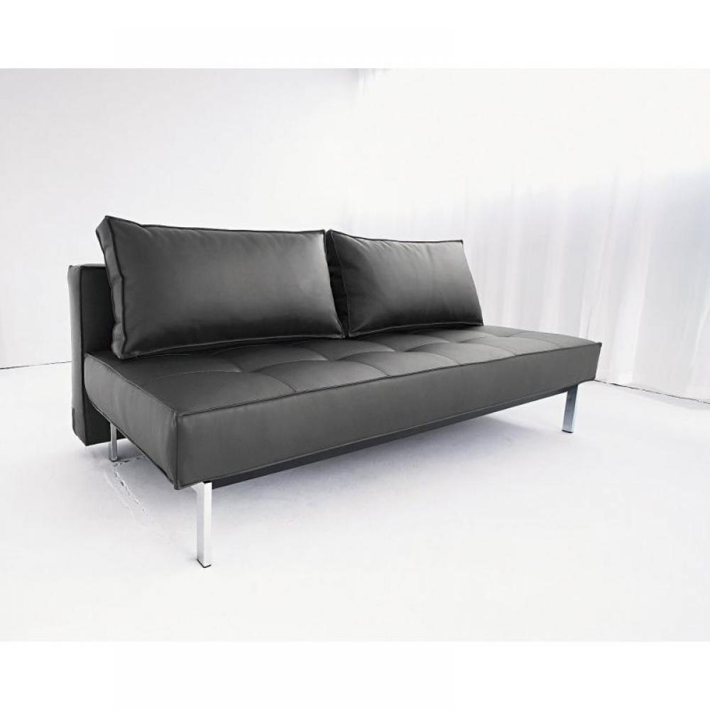 Canap s ouverture express canape lit design sly fa on cuir noir innovation - Canape lit cuir noir ...
