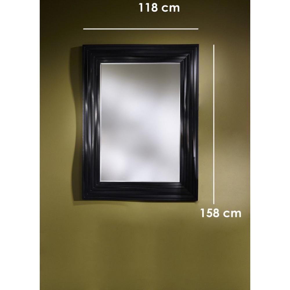 Miroirs meubles et rangements smooth miroir mural design for Miroir design noir