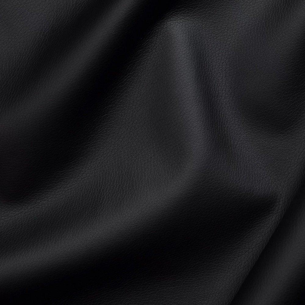 Canapé express 120 cm SOFIA EDITION Cuir et PU Cayenne noir matelas 16 cm