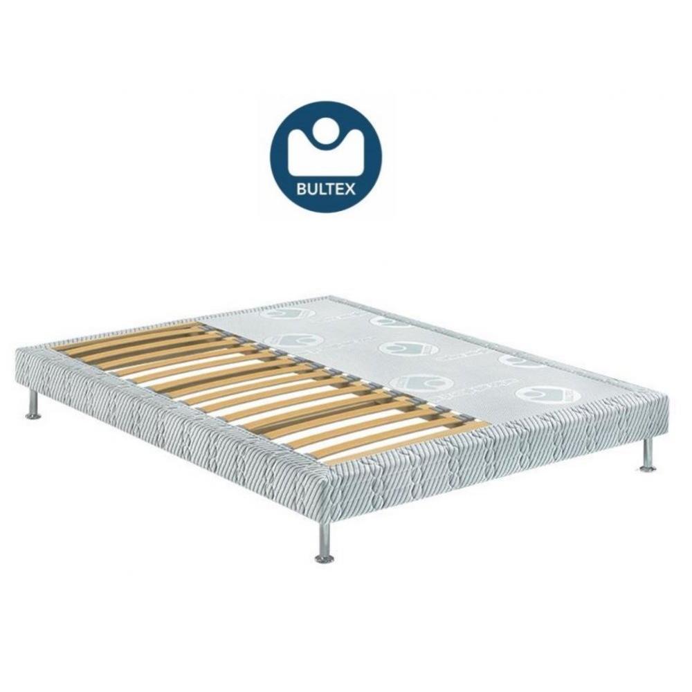Sommiers au meilleur prix bultex sommier tapissier confort m dium 3 zones couchage 160 190cm - Sommier en 2 parties 160 ...