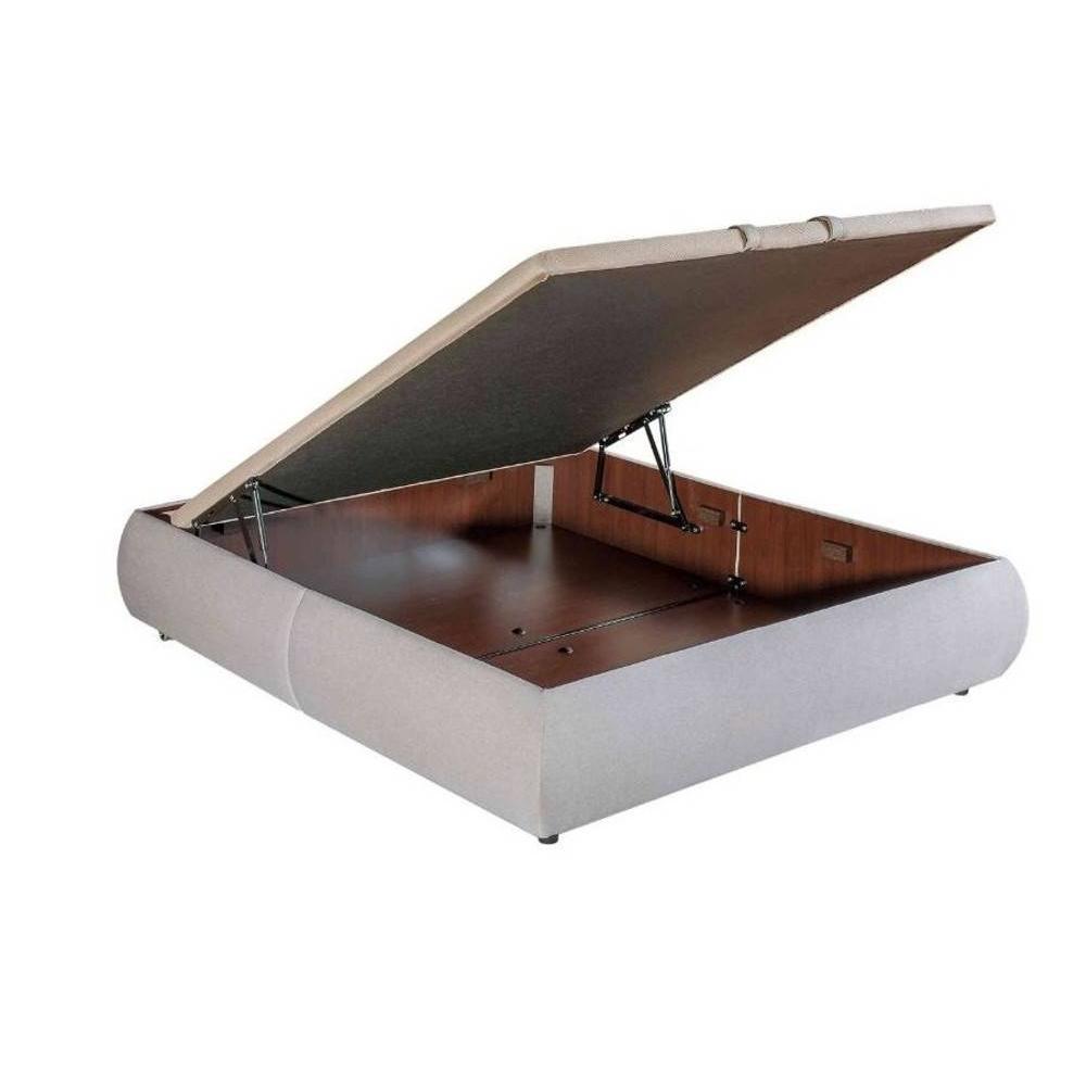 lits chambre literie sommier coffre double epeda volupta beige 2 80 200cm inside75. Black Bedroom Furniture Sets. Home Design Ideas