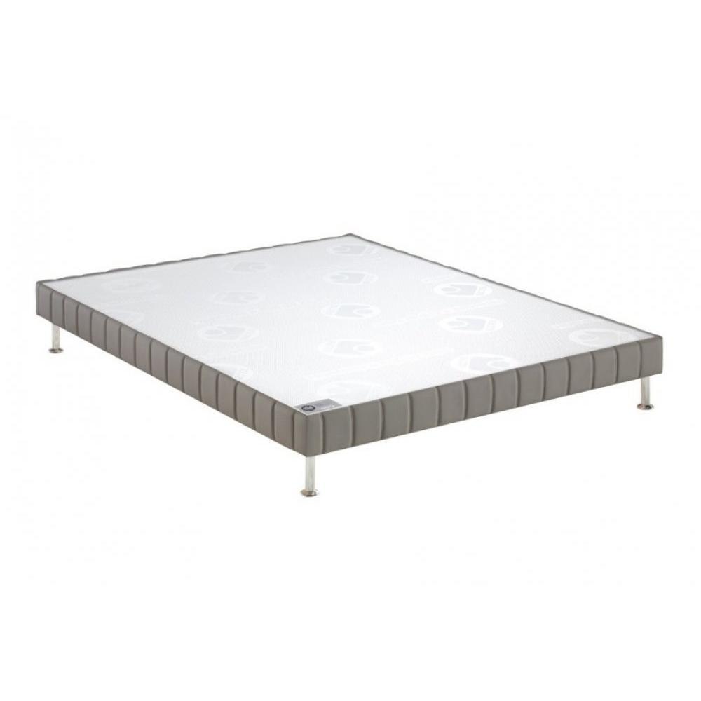 sommiers au meilleur prix bultex sommier tapissier confort ferme tiss gris souris 120 190cm. Black Bedroom Furniture Sets. Home Design Ideas