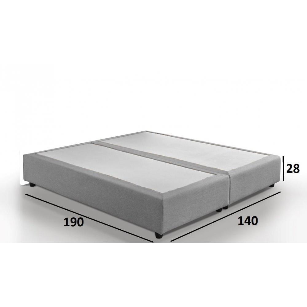 sommiers au meilleur prix sommier double haut de gamme plaza 140 190 cm inside75. Black Bedroom Furniture Sets. Home Design Ideas