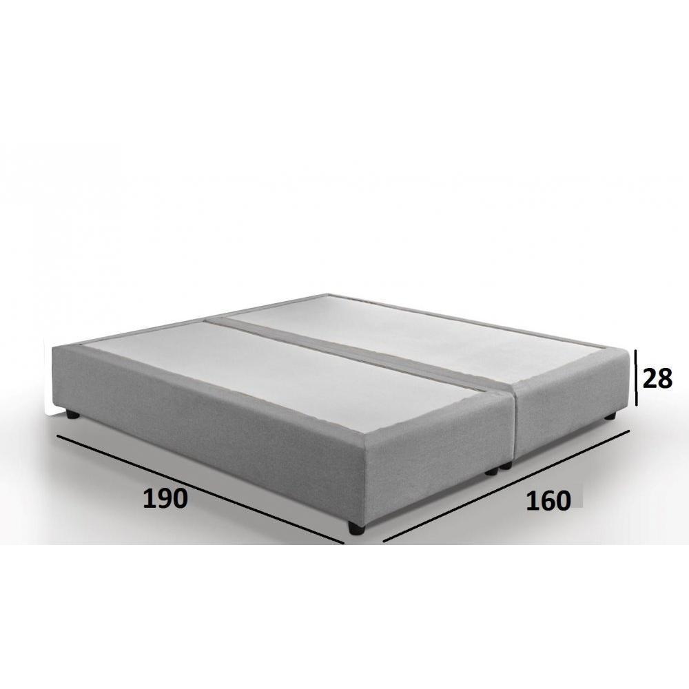 Sommiers au meilleur prix sommier double haut de gamme plaza 160 200 cm inside75 - Sommier en 2 parties 160 ...
