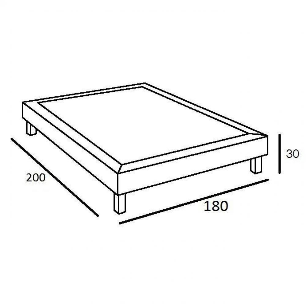 sommiers au meilleur prix double sommier design telma 180. Black Bedroom Furniture Sets. Home Design Ideas