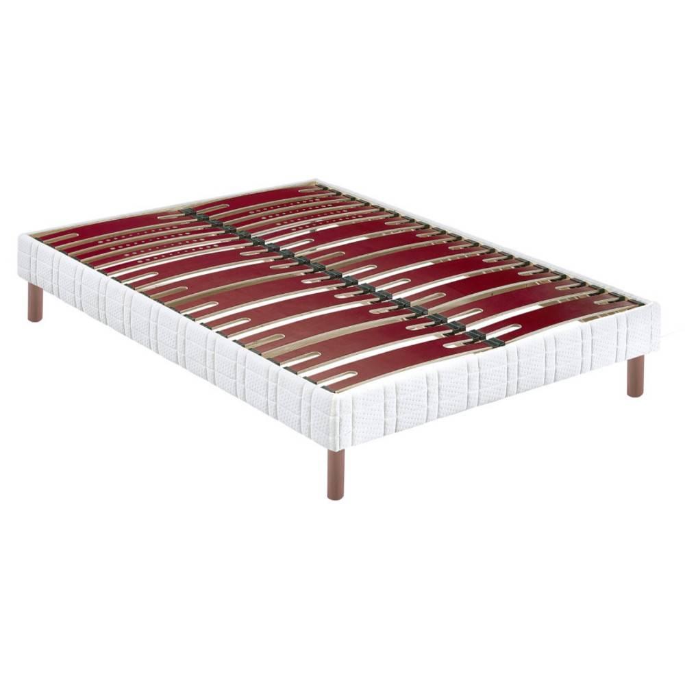 sommiers au meilleur prix bultex sommier confort morphologique bi lattes 140 200cm avec pieds. Black Bedroom Furniture Sets. Home Design Ideas