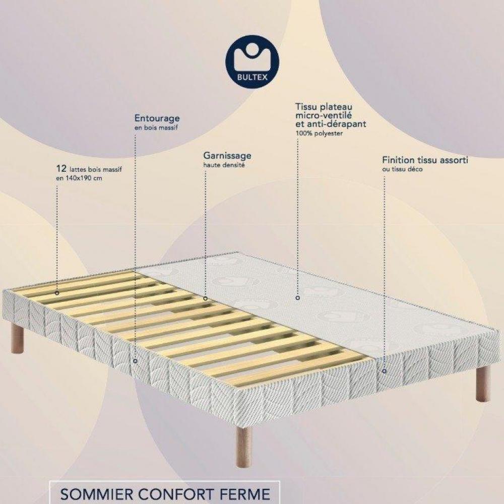 sommier bultex confortable au meilleur prix bultex sommier tapissier confort ferme couchage 80. Black Bedroom Furniture Sets. Home Design Ideas