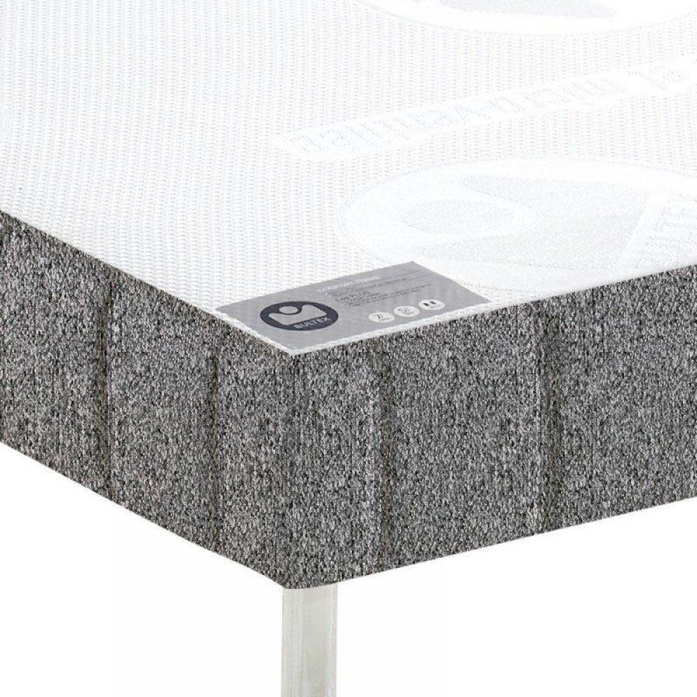 sommiers au meilleur prix bultex sommier tapissier confort ferme gris flanelle 160 190cm. Black Bedroom Furniture Sets. Home Design Ideas