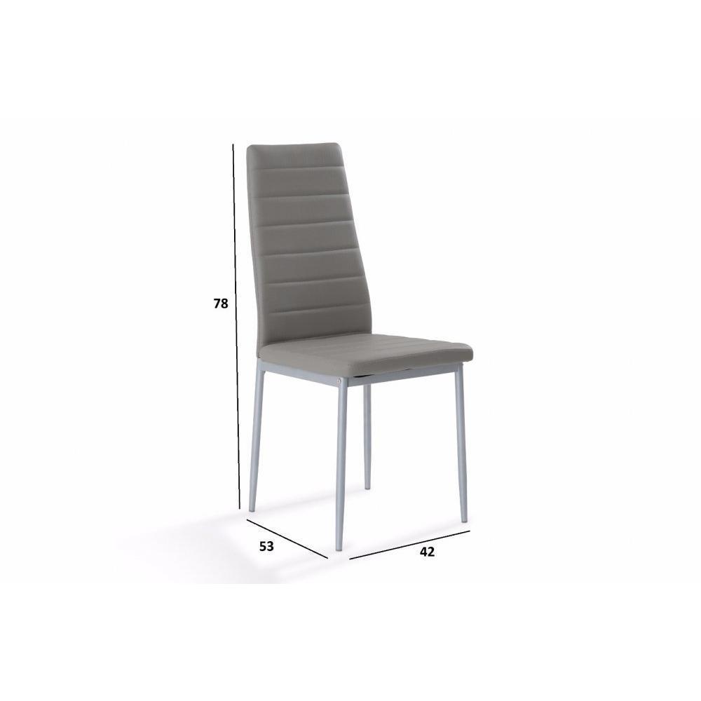 Chaise design ergonomique et stylis e au meilleur prix chaise design nosa en - Chaise simili cuir gris ...