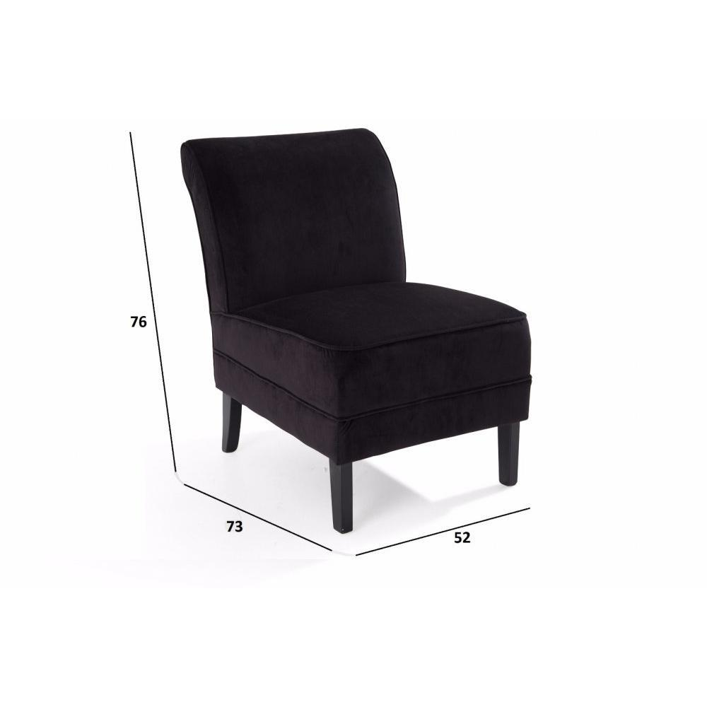 chauffeuses canap s et convertibles petit fauteuil lounge tissu noir inside75. Black Bedroom Furniture Sets. Home Design Ideas