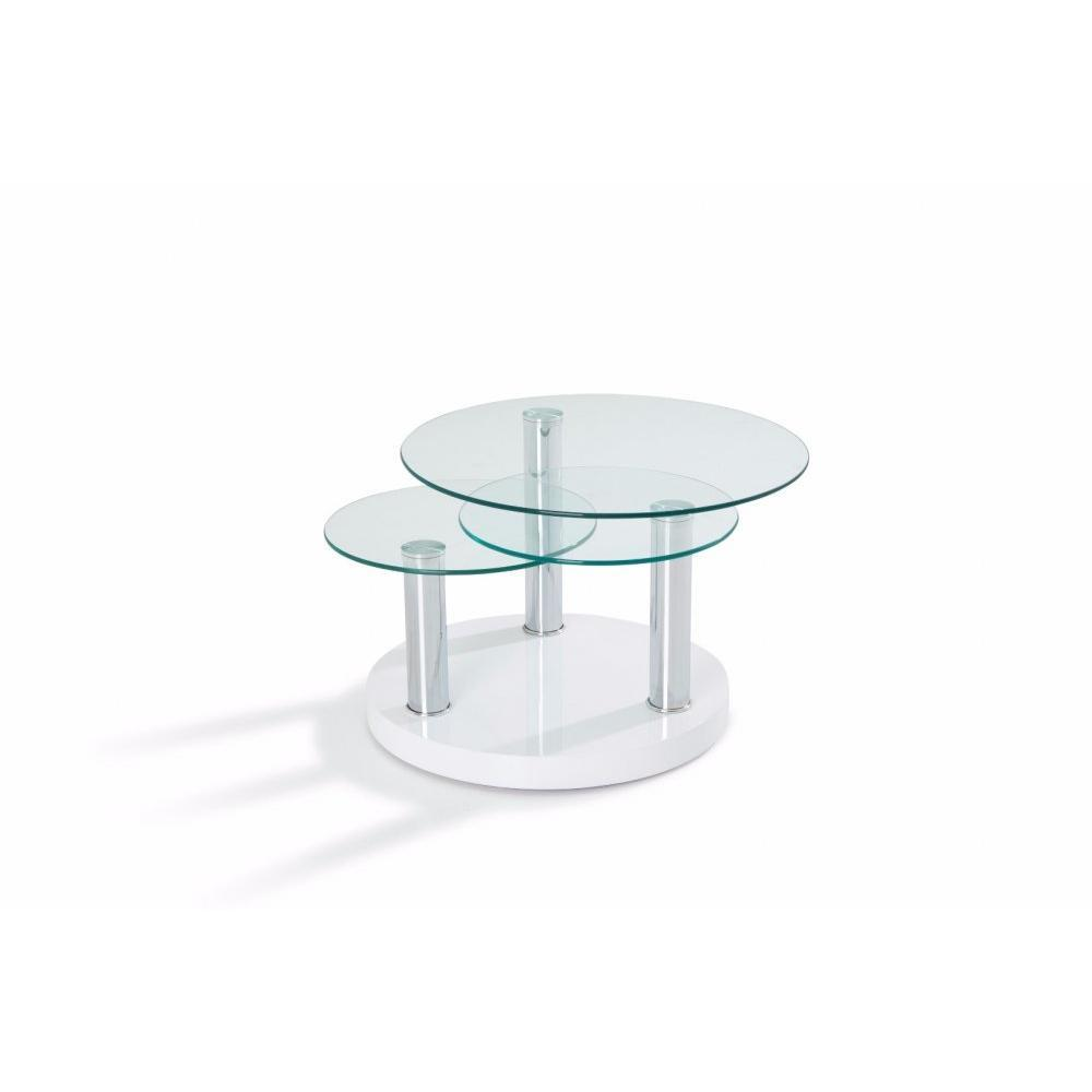 Table basse carr e ronde ou rectangulaire au meilleur prix table basse city - Table basse plateaux pivotants ...